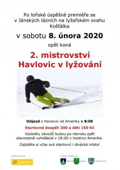 Mistrovství Havlovic ve sjezdovém lyžování 8.2.2020!